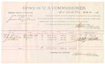 1891 October 21: Voucher, U.S. v. James Gross et al., violating internal revenue laws; includes cost of witnesses and mileage; W.R. Lane, R.B. Brassfield, J.S. Starr, witnesses; R.B. Creekmore, deputy marshal; Stephen Wheeler, commissioner; Jacob Yoes, U.S. marshal