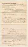 1891 October 22: Voucher, U.S. v. William Cutsinger, assault with intent to kill; E.B. Ratterree, deputy marshal; John McMarty, posse comitatus; Stephen Wheeler, clerk; I.M. Dodge, deputy clerk