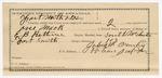 1891 October 19: Voucher, U.S. v. One Mack, retail liquor dealer; includes cost of warrant, mileage, subsistence; E.B. Ratterree, deputy marshal; John McMurty, guard