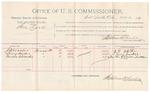 1891 October 22: Voucher, U.S. v. Samuel Rose, larceny; includes cost of witnesses; R.B. Creekmore, deputy marshal; J.D. Walker, Lewis Sanders, Martha A. Walker, witnesses; Stephen Wheeler, commissioner