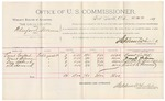 1891 October 23: Voucher, U.S. v. Bluford Foreman, assault with intent to kill; includes cost of witnesses; R.B. Creekmore, deputy marshal; Ernest Goebbel, Fanks Wilson, Dan Alberty, S.R. Howard, witnesses; Stephen Wheeler, commissioner; Jacob Yoes, U.S. marshal