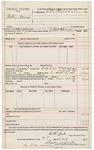 1891 October 28: Voucher, U.S. v. Willie Isaacs; includes cost of warrant; E.B. Harrison, deputy marshal; E.B. Harrison, commissioner; Stephen Wheeler, clerk; J.M. Dodge, deputy clerk; Jacob Yoes, U.S. marshal