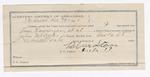 1891 October 28: Voucher, U.S. v. Lewis Emmerson, Abram Waldron, larceny; includes cost of warrant, mileage, witnesses; John M. Taylor, deputy marshal; Stephen Wheeler, commissioner, clerk; J.M. Dodge, deputy clerk; Jacob Yoes, U.S. marshal; Blue Starr, guard
