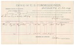 1891 October 28: Voucher, U.S. v. Looney Pigeon, introducing spiritous liquors; includes cost of witness; Perd Taylor, witness; E.B. Harrison, commissioner; Jacob Yoes, U.S. marshal