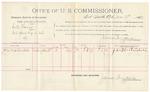 1891 November 2: Voucher, U.S. v. Robert Aytch, contempt; includes cost of warrant, mileage, subsistence; B. Colbert, deputy marshal; Stephen Wheeler, clerk; J.M. Dodge, deputy clerk; C.C. Ayers, witness to signatures; Jacob Yoes, U.S. marshal