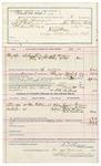1891 November 13: Voucher, U.S. v. Jack Grimsley, introducing spiritous liquor; includes cost of warrant, mileage, witnesses; B.C. Burchfield, deputy marshal; Dennis Hildebrand, Wite Harrington, W.L. McDaniel, witnesses; Stephen Wheeler, commissioner, clerk; J.M. Dodge, deputy clerk; Jacob Yoes, U.S. marshal
