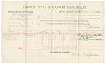 1891 November 09: Voucher, U.S. v. John Tumbleson, retail liquor dealer; includes cost of warrant, mileage, subsistence, witnesses; J.M. Bowman, deputy marshal; Austin Bowman, John Felkins, witnesses; Stephen Wheeler, commissioner, clerk; J.M. Dodge, deputy clerk; Jacob Yoes, U.S. marshal