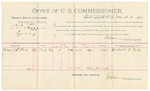 1891 November 02: Voucher, U.S. v. Roswell Hawes, bigamy; includes cost of mileage, witnesses; R.B. Creekmore, deputy marshal; L.A. Hawes, W.C. Chamberlain, witnesses; Stephen Wheeler, commissioner; Jacob Yoes, U.S. marshal