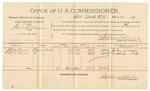 1891 November 03: Voucher, U.S. v. George Thomburg, larceny; includes cost of mileage, witness; C.C. Savage, witnesses; James Brizzolara, commissioner; Jacob Yoes, U.S. marshal