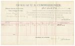 1891 November 05: Voucher, U.S. v. Walter Ferguson, introducing spiritous liquors; includes cost of mileage, witnesses; W.C. Smith, W.L. Johnson, witnesses; Stephen Wheeler, commissioner; Jacob Yoes, U.S. marshal