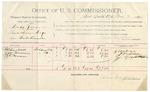 1891 November 6: Voucher, U.S. v. Arthur Powell, introducing spirituous liquors; includes cost of mileage, witness; Gus Parker, witness; E.B. Harrison, commissioner; Daniel Chapman, deputy marshal; Stephen Wheeler, clerk; I.M. Dodge, deputy clerk