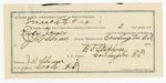 1891 December 30: Voucher, U.S. v. Welsey Millsap, violating internal revenue laws; James Avery, witness; Stephen Wheeler, clerk; I.M. Dodge, deputy clerk; J.H. Van Brunt, deputy marshal; U.S. v. One Copperstill et al.