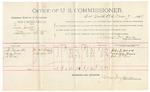 1891 November 09: Voucher, U.S. v. Alex Cummins, introducing spiritous liquors; includes cost of mileage, witnesses; William Thompson, William Chuie, witnesses; Stephen Wheeler, commissioner; Jacob Yoes, U.S. marshal