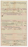 1891 November 9: Voucher, U.S. v. James Cheek, violating internal revenue laws; includes cost of mileage, witnesses; Thomas J. Cargile, Andrew Johnson, witnesses; Stephen Wheeler, commissioner; Jacob Yoes, U.S. marshal