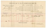 1891 November 11: Voucher, U.S. v. Crusoe French, assault with intent to kill; includes cost of mileage, witnesses; William Drake, E.D. Gaston, Addie Junkens, John Malone, witnesses; Stephen Wheeler, commissioner; S.A. Williams; Jacob Yoes, U.S. marshal