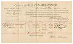1891 November 12: Voucher, U.S. v. Price Keener; includes cost of mileage, subsistence, witnesses; B.C. Burchfield, deputy marshal; Dick Scott, T.J. Neal, witnesses