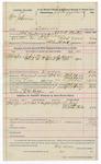 1891 November 13: Voucher, U.S. v. Frank Collins, murder; includes cost of warrant, mileage, subsistence, witness; J.C. West, deputy marshal; Ellis West, guard; Ed Ross, witness; Stephen Wheeler, commissioner, clerk; Jacob Yoes, U.S. marshal