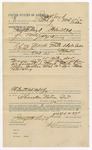 1891 June 13: Voucher, U.S. v. John Vann, larceny; includes cost of mileage, witnesses; R.A. Evans, James Chatham, J.W. Ford, witnesses; S.A. Williams, witnesses of signatures; Stephen Wheeler, commissioner; Jacob Yoes, U.S. marshal