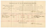 1891 November 13: Voucher, U.S. v. Marion Lee, larceny; includes cost of mileage, witnesses; R.B. Creekmore, witness of signatures; Richard Mitchell, C.J. Howers, witnesses; Stephen Wheeler, commissioner; Jacob Yoes, U.S. marshal