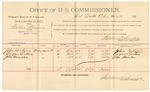 1891 November 16: Voucher, U.S. v. Burrell Smith et al., murder; includes cost of witnesses, mileage; Sidney Carr, Walter Harques, J.C. Boger, witnesses; Stephen Wheeler, commissioner; Jacob Yoes, U.S. marshal