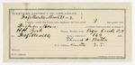 1891 November 26: Voucher, U.S. v. J.H. Johnson, larceny; includes cost of warrant, mileage; B. Colbert, deputy marshal; James Brizzolara, commissioner; Jacob Yoes, U.S. marshal
