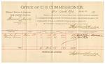 1891 December 07: Voucher, U.S. v John Thornton; includes cost of subpoenas, mileage, witnesses; B.T. Shelburne, deputy marshal; Charles Hokey, Alphonse Huey, witnesses