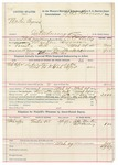 1891 November 19: Voucher, U.S. v. One Penerson, introducing spiritous liquors; includes cost of warrant, mileage, subsistence, witnesses; Bass Reeves, deputy marshal; Roland Nave, posse comitatus; Thomas Caldwell, guard; Mulcasey, Ma-he-cha, witnesses; James Brizzolara, commissioner