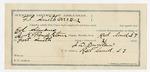 1891 November 18: Voucher, U.S. v. Ben Ashing, robbing U.S. mail; includes cost of mileage, witness; A.J. Lane, witness; James Brizzolara, commissioner; Jacob Yoes, U.S. marshal