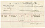 1891 November 22: Voucher, U.S. v. William Cutsinger; E.B. Raterree, deputy marshal; Robert Rolls, Dr. Pyles, Polk McLoane, Dr. W.A. Cox, Bob Little, A.J. Medlin, John Philips, William Martin, Dr. James Fields, P.D. German, James Lindsay, Broaj McDonald, witnesses; Jim Williams, witness in U.S. v. Dennis Browns; Sam Bornard, Dr. Hunt, witnesses in U.S. v. T.J. Coleman