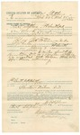 1891 November 19: Voucher, U.S. v. Ellis Stephenson and Ross Williamson, larceny; includes cost of mileage, witness; Frank Giles, witness; James Brizzolara, commissioner; R.B. Creekmore; Jacob Yoes, U.S. marshal