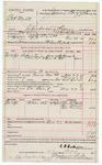 1891 November 27: Voucher, U.S. v. Bob Wyatt, introducing spiritous liquor; includes cost of warrant, mileage, subsistence, witnesses; E.B. Ratterree, deputy marshal; Allen McMurty, Ben Maxey, George Maxey, witnesses; James Brizzolara, commissioner; Stephen Wheeler, clerk; J.M. Dodge, deputy clerk; Jacob Yoes, U.S marshal