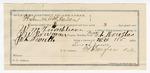 1891 November 30: Voucher, U.S. v. William Tumbleson, retail liquor dealer; includes cost of mileage, warrant, subsistence, witness; J.W. Bowman, deputy marshal; William Coleman, witness; James Brizzolara, commissioner; Stephen Wheeler, clerk; J.M. Dodge, deputy clerk; Jacob Yoes, U.S. marshal