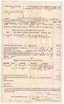 1891 December 29: Voucher, U.S. v. Joseph Shields, introducing liquor; includes cost of mileage, warrant, subsistence, witnesses; S.W. Tate, deputy marshal; J.H. Slade, J.H. Harrington, John McPherson, Dan Trim, witnesses; James Brizzolara, commissioner, Stephen Wheeler, clerk; J.M. Dodge, deputy clerk; Jacob Yoes, U.S. marshal