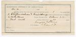 1891 December 04: Voucher, U.S. v. Clayson Anderson, B.J. Spring, introducing liquor; includes cost of mileage, warrant, witness; E.B. Ratterree, deputy marshal; Eugene Ratterree, guard; Dr. Harris, witness; Stephen Wheeler, commissioner