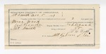1891 December 05: Voucher, U.S. v. Mose Ward, introducing liquor; includes cost of mileage, warrant, witnesses; C.L. Bowden, deputy marshal; W.H. Ross, guard; Ke Catcher, Andrew Dick, Lewis Keeser, witnesses; Stephen Wheeler, commissioner