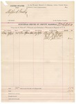 1891 December 8: Voucher, U.S. v. Shepherd Busby; includes cost of subpoenas, mileage, witnesses; William G. Asbill, deputy marshal; Huston Buris, V.A. Wiltshire, Frank Martin, Alex Johnson, witnesses