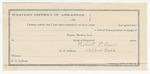 1891 December 8: Voucher, U.S. v. Ed Ford and Jack Ford, introducing spirituous liquors; James Brizzolara, commissioner; James Johnson, posse comitatus; Robert Vann, guard; R.J. Scott, deputy marshal; Gerry Jeney, W.C. Russell, A.J. Johnson, J.A. Turquilt, witnesses; Stephen Wheeler, clerk; I.M. Dodge, deputy clerk; Jacob Yoes, U.S. marshal