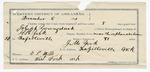 1891 December 10: Voucher, U.S. v. Joseph Youngduck, introducing spiritous liquors; includes cost of warrant, mileage; E.P. Mills, witness of signatures; E.B. Harrison, commissioner; H.H. York, deputy marshal; J.M. York, guard; J.P. Welch, Roan Walker, witnesses; Stephen Wheeler, clerk; I.M. Dodge, deputy clerk