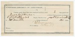 1891 December 16: Voucher, U.S. v. Loss Wilkerson, introducing spiritous liquors; includes cost of warrant, mileage, subsistence, feeding prisoners, witnesses; E.B. Ratterree, deputy marshal; D.C. Merryman, guard; James Cate, Wite Brunson, Wallace Durant, Steve Dozier, witnesses; Stephen Wheeler, commissioner