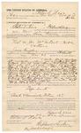 1891 December 29: Voucher, to Roland Nave, of Fort Smith, Arkansas, for assisting Bass Reeves, deputy marshal, in U.S. v. Joe McIntosh, introducing spiritous liquors; Frank Casey, Michael Culver, Nocus Cuuda Harjo, Subring Guthey, Hugh Harvey, arrested; James Brizzolara, commissioner; Stephen Wheeler, clerk; J.M. Dodge, deputy clerk; Jacob Yoes, U.S. marshal