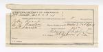 1891 December 23: Voucher, U.S. v. John Roach, murder; Stephen Wheeler, commissioner; C.L. Boudin, deputy marshal; Sterling McDonald, posse comitatus; Morris Sheppard, guard; I.M. Dodge, deputy clerk; Jacob Yoes, U.S. marshal