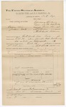 1891 December 31: Voucher, U.S. v. Catma (alias Jackson Ward), introducing spiritous liquors; includes cost of warrant, mileage, witness; D.C. Dye, deputy marshal; Tom Galcatcher, witness; Stephen Wheeler, commissioner; Jacob Yoes, U.S. marshal
