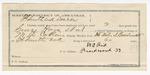 1891 December 28: Voucher, to W.M. Reed, of Fort Smith, Arkansas, for assisting M.D. Collins, deputy marshal, in U.S. v. George Haye, Bill Gott, Lee Roy, A.J. Wilson, introducing spiritous liquors; Stephen Wheeler, commissioner; J.M. Dodge, deputy clerk; Jacob Yoes, U.S. marshal
