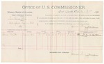 1891 October 21: Voucher, U.S. v. S.W. Horseskin, introducing liquor; includes cost of  mileage and witness; R.B. Creekmore, deputy marshal; Thomas Smith, witness; James Brizzolara, commissioner; Jacob Yoes, U.S. marshal