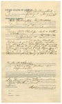 1892 January 14: Voucher, to Zeke Walkingstick, of Fayetteville, Arkansas, for assisting L.H. Ramey, deputy marshal, in U.S. v. Will Philips, Dock Reese, and Jacob Hummingbird, introducing spirituous liquors; E.B. Harrison, commissioner; Jacob Yoes, U.S. marshal