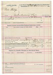 1892 January 13: Voucher, U.S. v. Will Phillips, introducing spirituous liquors; includes costs of mileage, feeding prisoner; L.H. Ramey, deputy marshal; E.B. Harrison, commissioner
