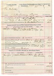 1892 March 29: Voucher, One Hodibitsy, introducing spirituous liquors; includes costs of service of warrant, mileage on writ, feeding prisoner; Tom Factor, One Parmesey, witnesses; Clarence Warden, posse comitatus; Bass Reeves, deputy marshal; James Brizzolara, commissioner