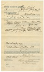 1892 June 23: Voucher, to Will Ball, of Fort Smith, Arkansas, for assisting W.C. Mickle, deputy marshal, in U.S. v. Squire Allen, assault; Stephen Wheeler, commissioner; J.M. Dodge, deputy clerk; Jacob Yoes, U.S. marshal