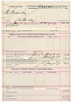 1982 January 21: Voucher, U.S. v. Steve Backwoods, introducing spirituous liquors; includes costs of feeding prisoner and mileage; H.H. York, deputy marshal; E.B. Harrison, commissioner