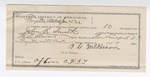 1892 January 25: Voucher, U.S. v. John R. Smith, adultery; includes costs of service of warrant, mileage on writ, 7 days feeding prisoner; J.D. Smith, William Munson, Perry Carter, Laura J. Tucker, witnesses; L.G. Wilkinson, guard;  W.N. Stewart, deputy marshal; E.B. Harrison, commissioner